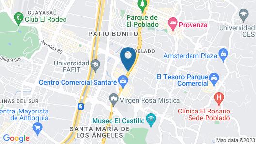Hotel Poblado Plaza Map