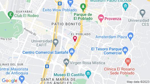 Hotel Estelar Milla de Oro Map