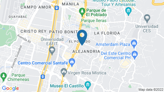 Hotel Estelar Blue Map