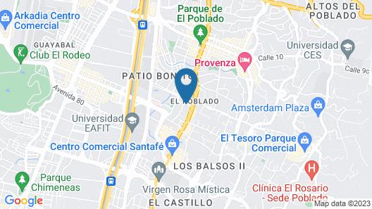 Medellin Marriott Hotel Map