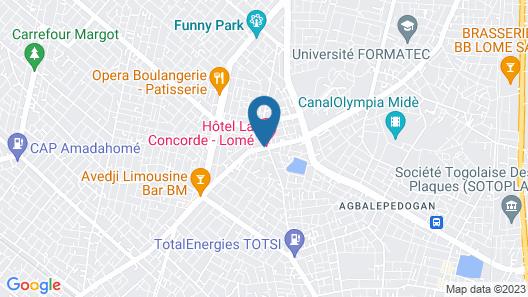 Hotel la Concorde Map