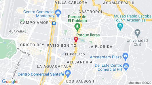 Dann Carlton Medellin Hotel Map