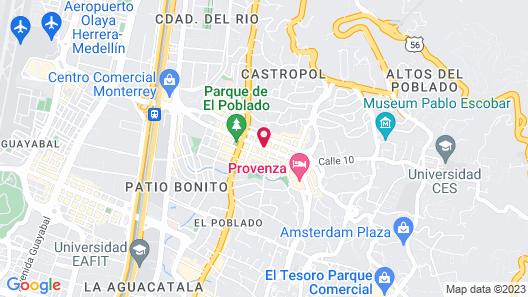 Hotel Lleras 10 Map