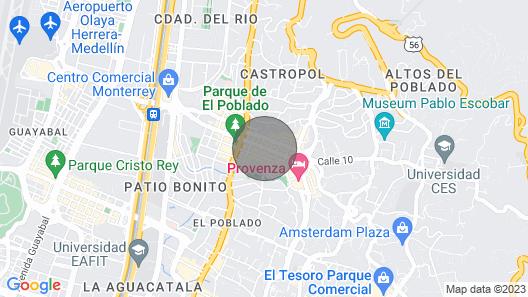 POBLADO TROPICAL 12 BEDROOM COMPOUND POOL AC Map