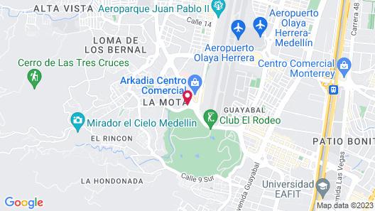 Aparta Hotel Portal del Rodeo Map