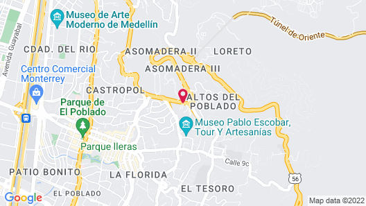 InterContinental Medellin Map