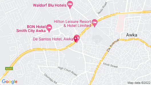 De Santos Hotel Awka Map