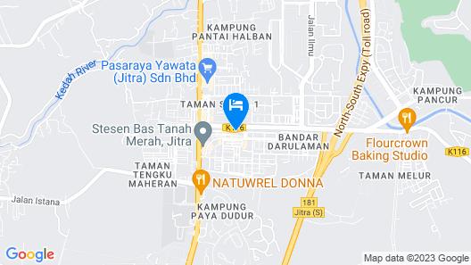Hotel Darulaman Jitra Map