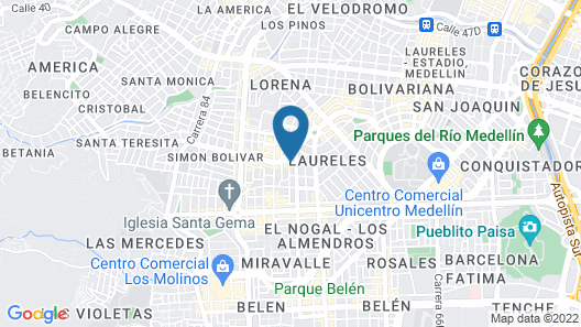 Solar Hotel Casa Laureles Map