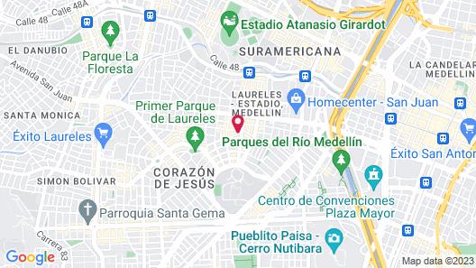 San Peter Suites Map