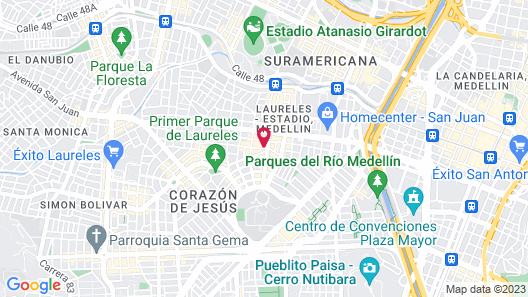 Apartamentos Amoblados de la 70 Map