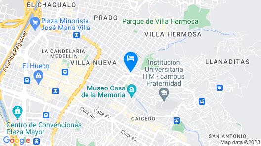 Medallo Social Hostal Map