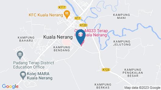 OYO 44033 Terap Inn Kuala Nerang Map