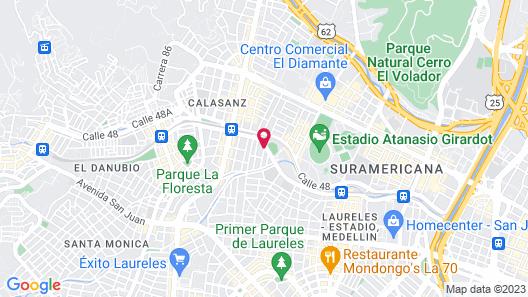 Hotel Palmas Del Estadio Map