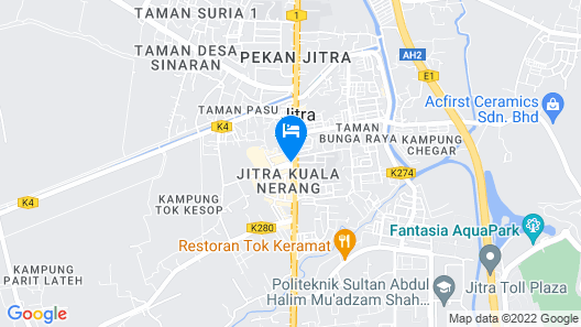 Big Orange Hotel Jitra Map