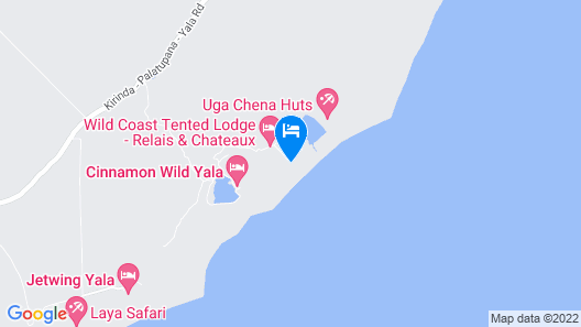 Wild Coast Tented Lodge Map