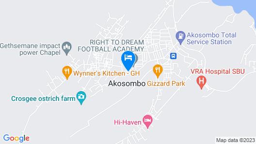 Volta Hotel Akosombo Map