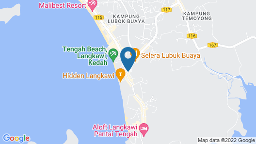 Ambong Pool Villas Map