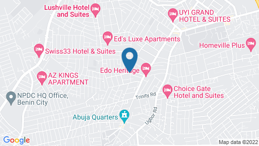 victoria inn hotel and suite Map
