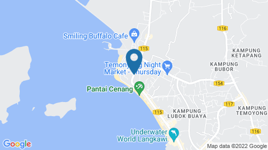 Pelangi Beach Resort & Spa, Langkawi Map