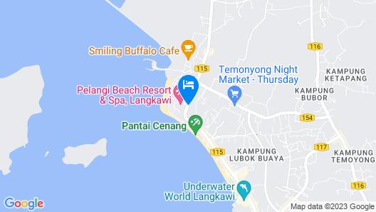 Pelangi Beach Resort & Spa, Langkawi Map