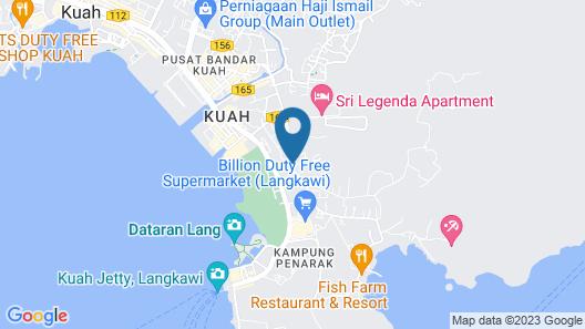 Langkawi Seaview Hotel Map