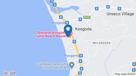 Sheraton Kosgoda Turtle Beach Resort Map