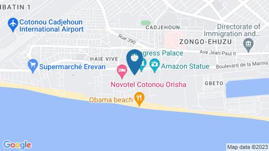 Golden Tulip Le Diplomate Cotonou Map