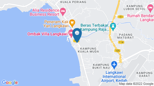 Perdana Beach Resort Map
