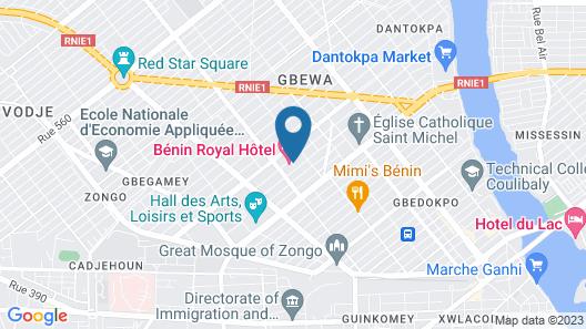 Bénin Royal Hôtel Map