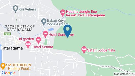 Yala Safari Camping Map