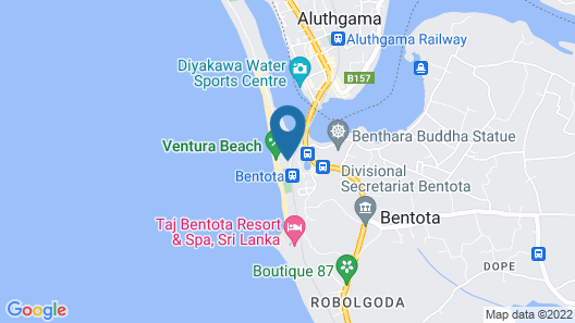 Avani Bentota Resort Map