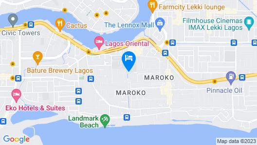 Solitude Hotel Yaba Map