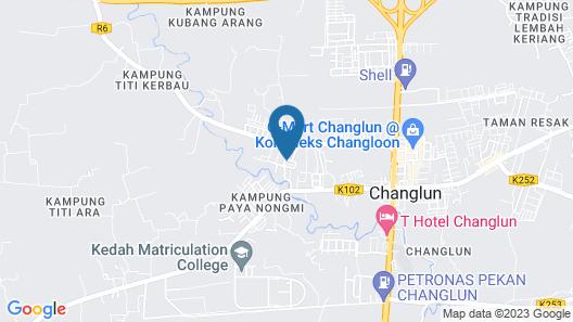 Aushaf Homestay Changlun Map