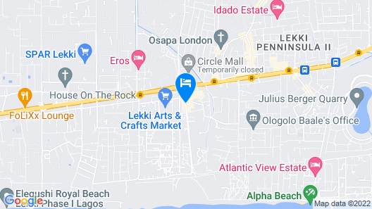 Lekki Central Hotel Map