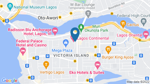 Lagos Continental Hotel Map