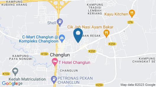 Zaida Homestay Changlun Map