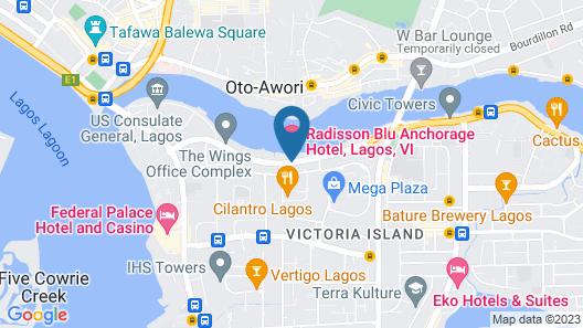 Radisson Blu Anchorage Hotel, Lagos, V.I. Map