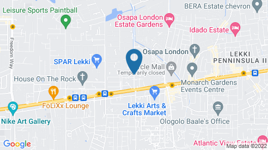 Tastefully Luxury Furnished Duplex IN Lekki Phase 1 FOR Short LET Map