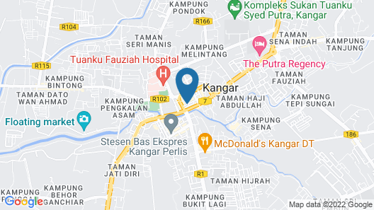 Lily Homestay Kangar Map