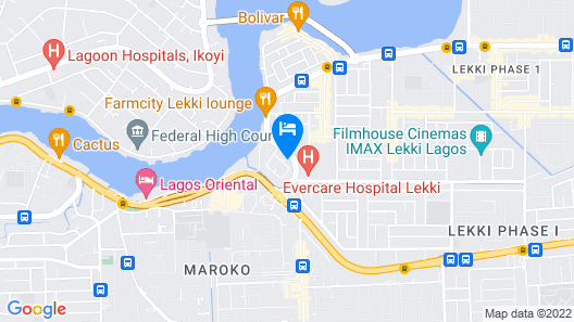Demiral Hotel at The Place Lekki Map