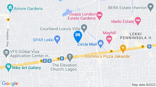 Golden Palm Resort & Hotel Map