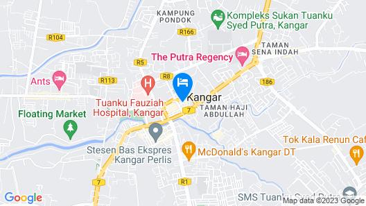 OYO 90039 Coop Hotel Kangar Map