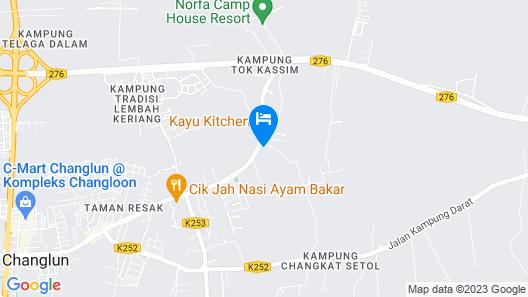 OYO 90168 Serambi Pelangi Chalet Map