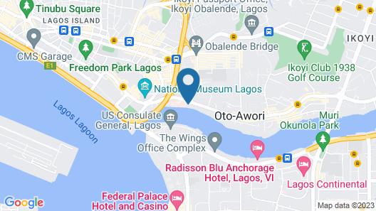 Westwood Hotel Ikoyi Map