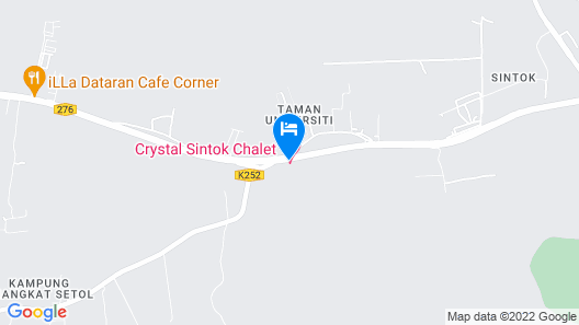 OYO 90085 Crystal Sintok Chalet Map