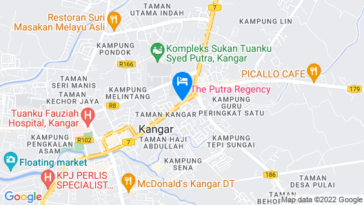 The Putra Regency Hotel Map