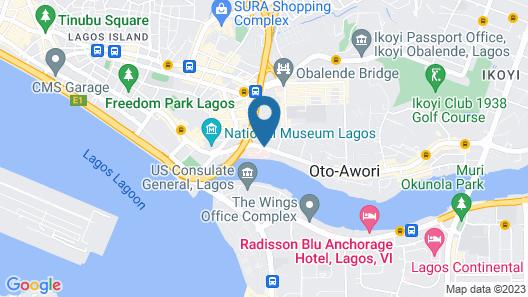 The Westwood Hotel Ikoyi Lagos Map