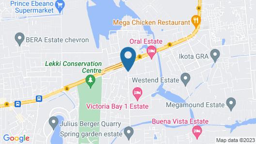 Eastgate Hotel Lekki Map
