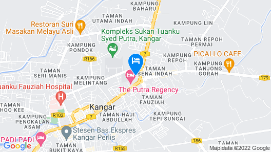 Hanna Homestay Kangar Map